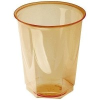 Gobelet cristal PS orange 20/25 cl