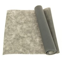 CHEMIN DE TABLE INTISSE BRICOTEX GRIS 40 CM X 7M